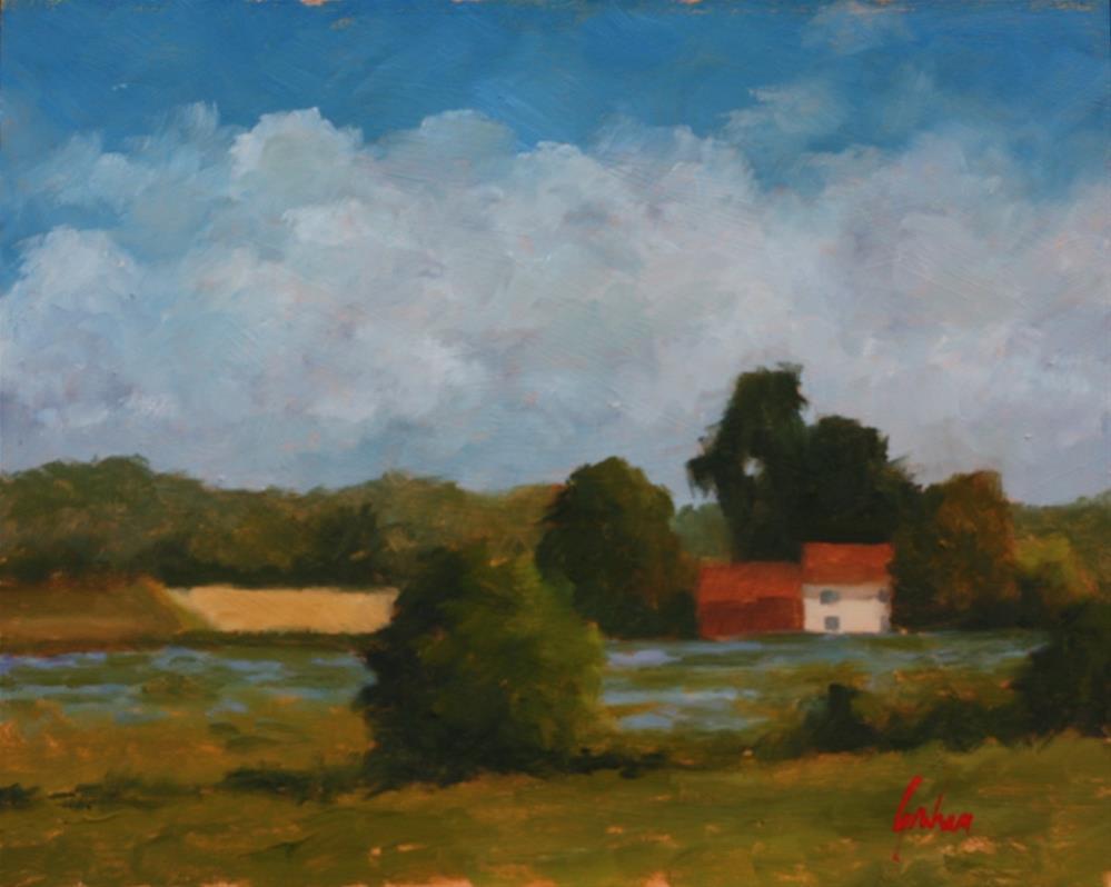 """Lavender fields at Brugelette"" original fine art by Graham Townsend"
