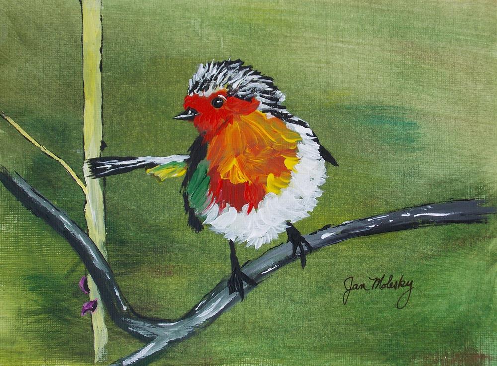 """""""Robin Fledgling III"""" original fine art by Jan Molesky"""