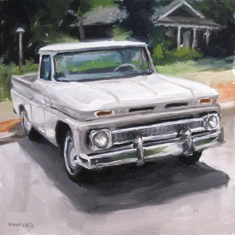 """""""Old Chevy Pickup"""" original fine art by Michael Naples"""