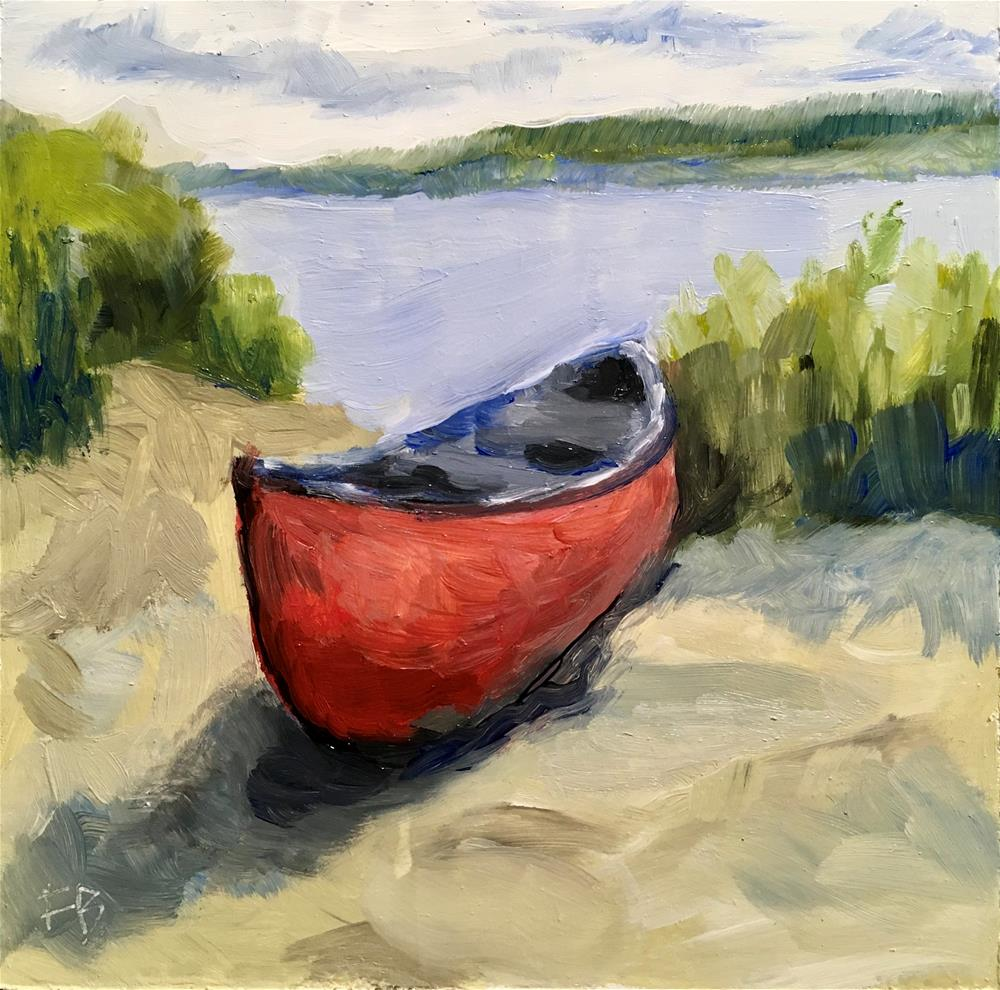 """""""295 Can You Canoe?"""" original fine art by Fred Bell"""