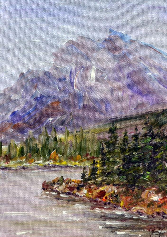 """SALE!!!Rundle Mountain"" original fine art by Gloria Ester"