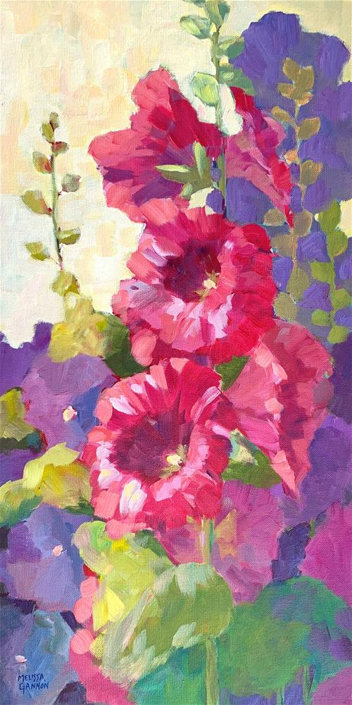 """Hollyhock Smile"" original fine art by Melissa Gannon"