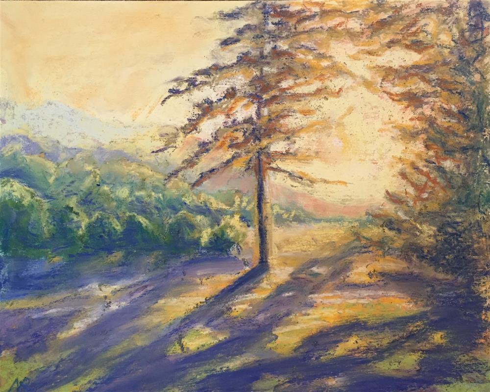 """Summer sunset"" original fine art by Natasha Ramras"