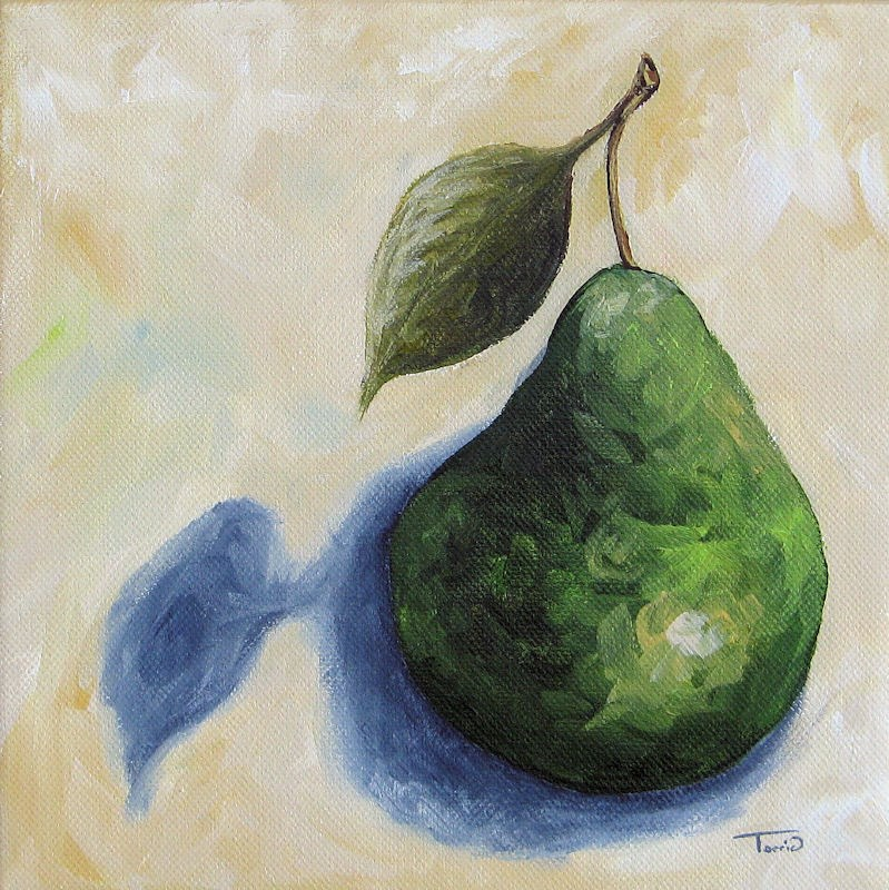 """Pear in the Spotlight"" original fine art by Torrie Smiley"