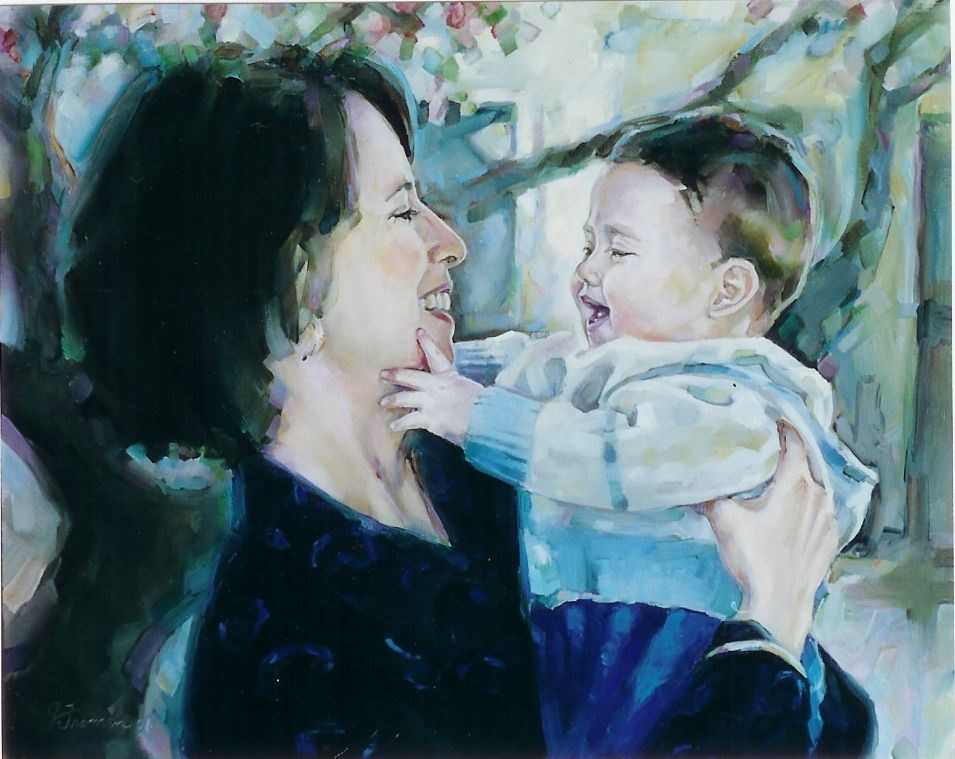 """""""Anna and Ryan"""" original fine art by Jeannette Fromm"""