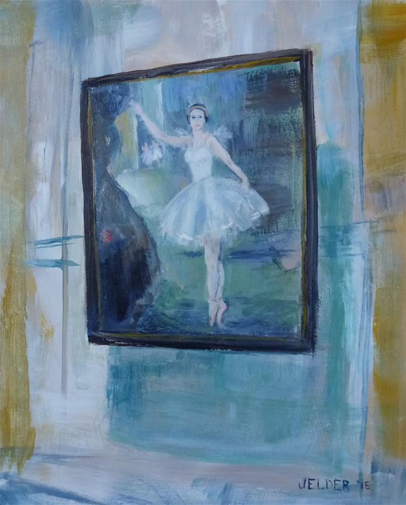 """Ballerina, Paris No. 78"" original fine art by Judith Elder"