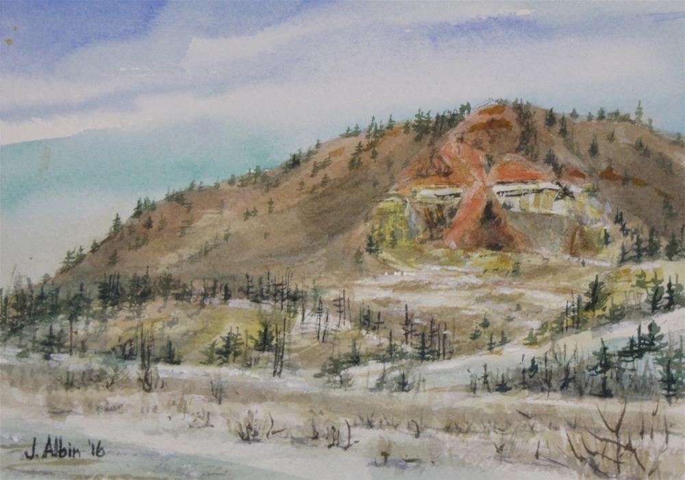 """""""Sleeping Hillside,  Gay Ranch, MT"""" original fine art by Jane Albin"""