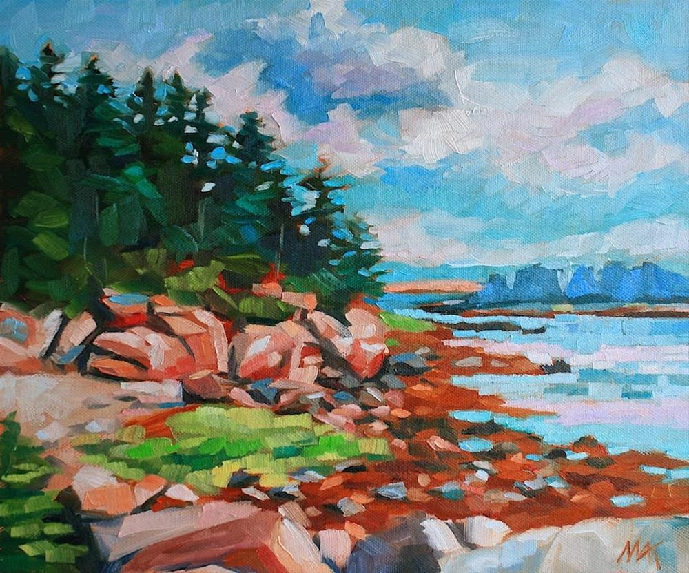 """""""Schoodic Revisited"""" original fine art by Mary Anne Cary"""