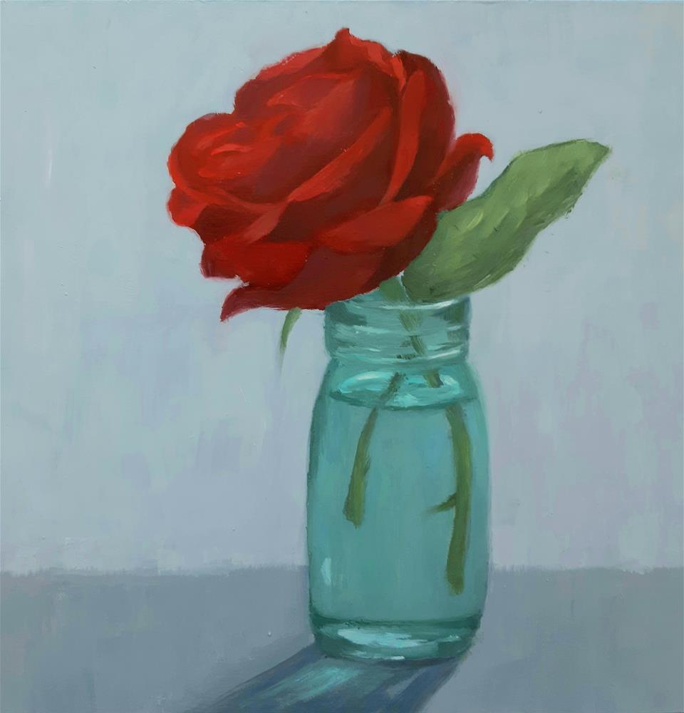 """New Year Rose"" original fine art by Karen Johnston"