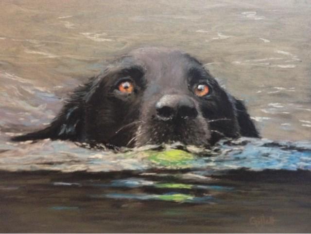 """Fetch!"" original fine art by Cindy Gillett"
