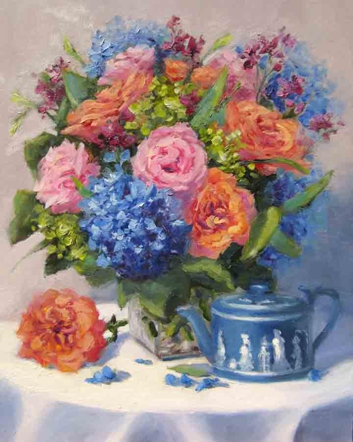 """""""Blue Monday"""" original fine art by Pat Fiorello"""