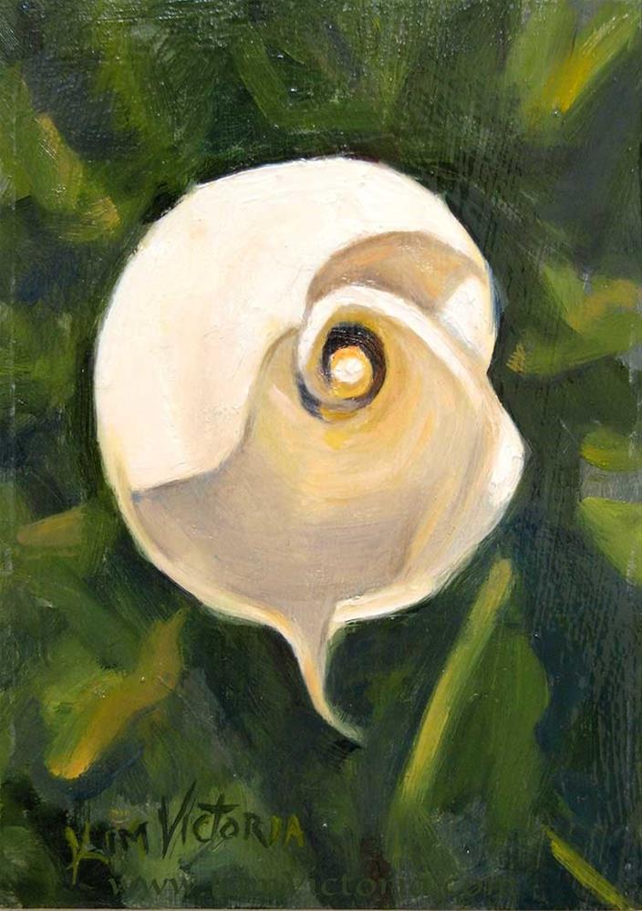 """Cala Lily Spiral"" original fine art by Kim Victoria"