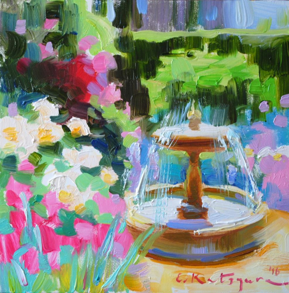 """Fountain of Colors"" original fine art by Elena Katsyura"