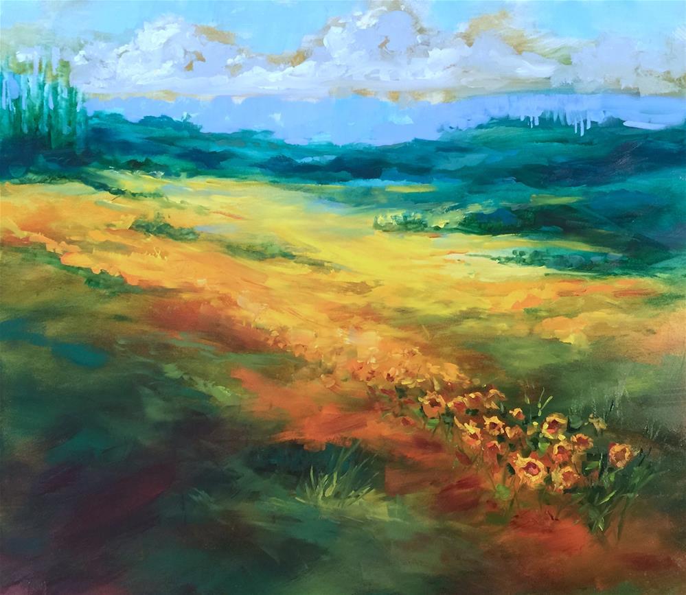 """Field of Joy French Sunflowers"" original fine art by Nancy Medina"