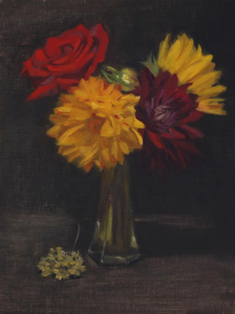 """Vase Full of Color (framed)"" original fine art by Pamela Poll"