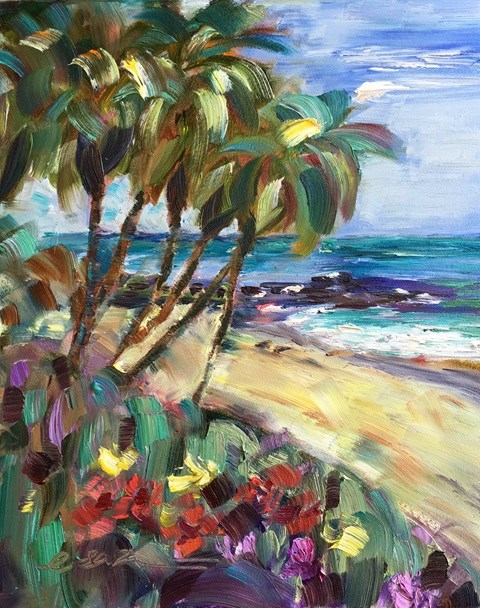 """Summer Day, Laguna Beach, CA"" original fine art by Lisa Fu"
