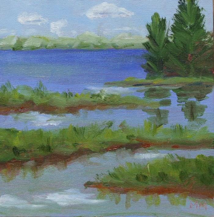 """""""Wolf Creek -2"""" original fine art by Maria McNitt"""