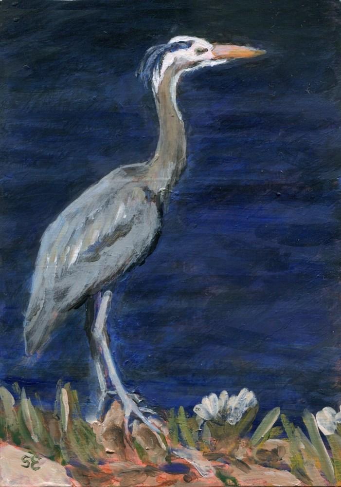 """Spear Fishing"" original fine art by Stanley Epperson"