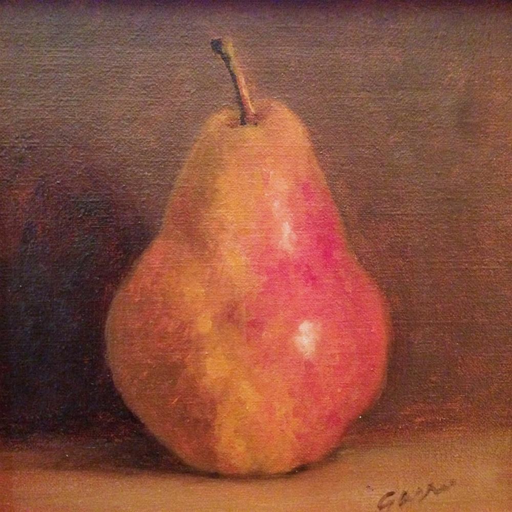 """Autumn Pear"" original fine art by Michelle Garro"