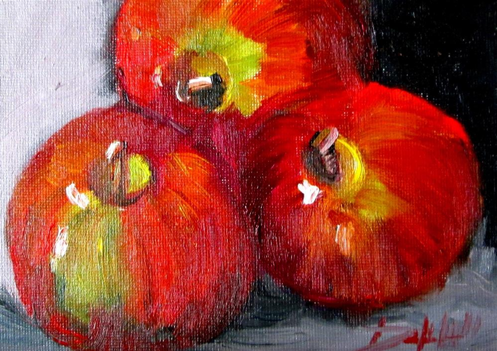 """Three Apples 23"" original fine art by Delilah Smith"