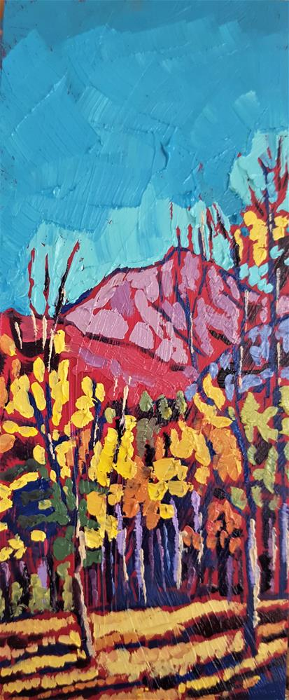"""Autumn Aspens - Fine Arts Oil Painting"" original fine art by Bhavna Misra"