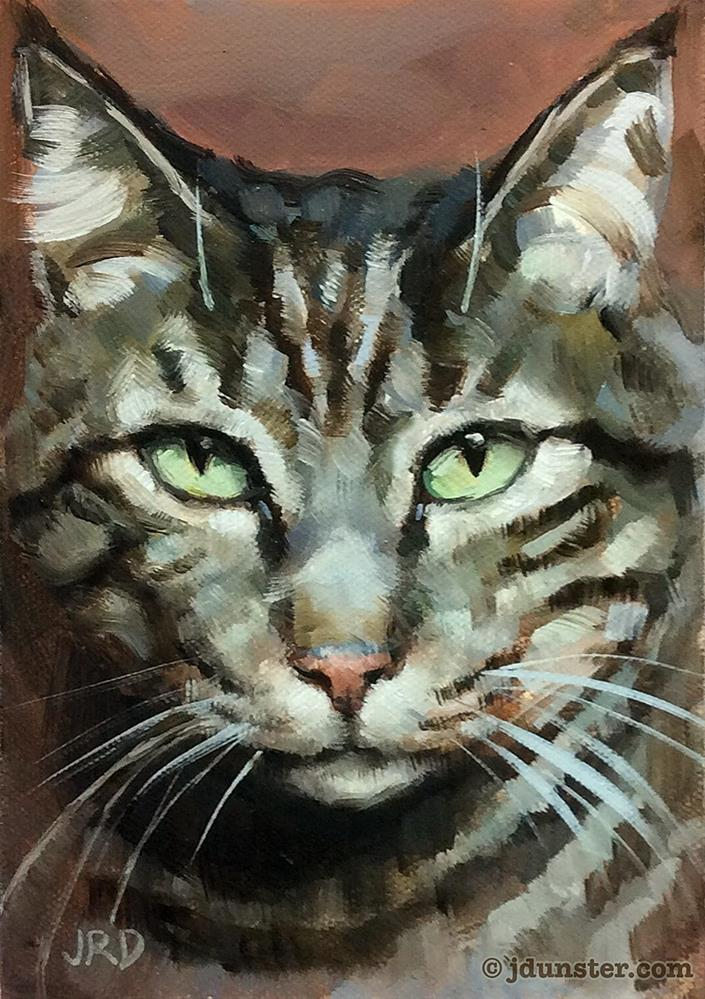 """Long Whiskers"" original fine art by J. Dunster"