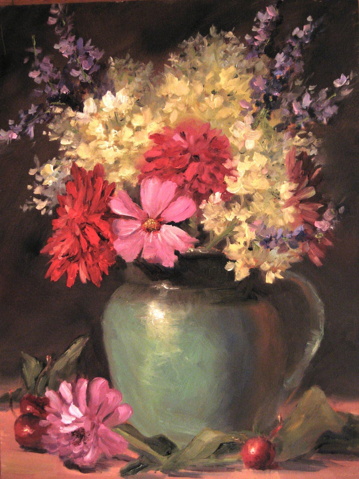 """Flower Study 20"" original fine art by Pat Fiorello"
