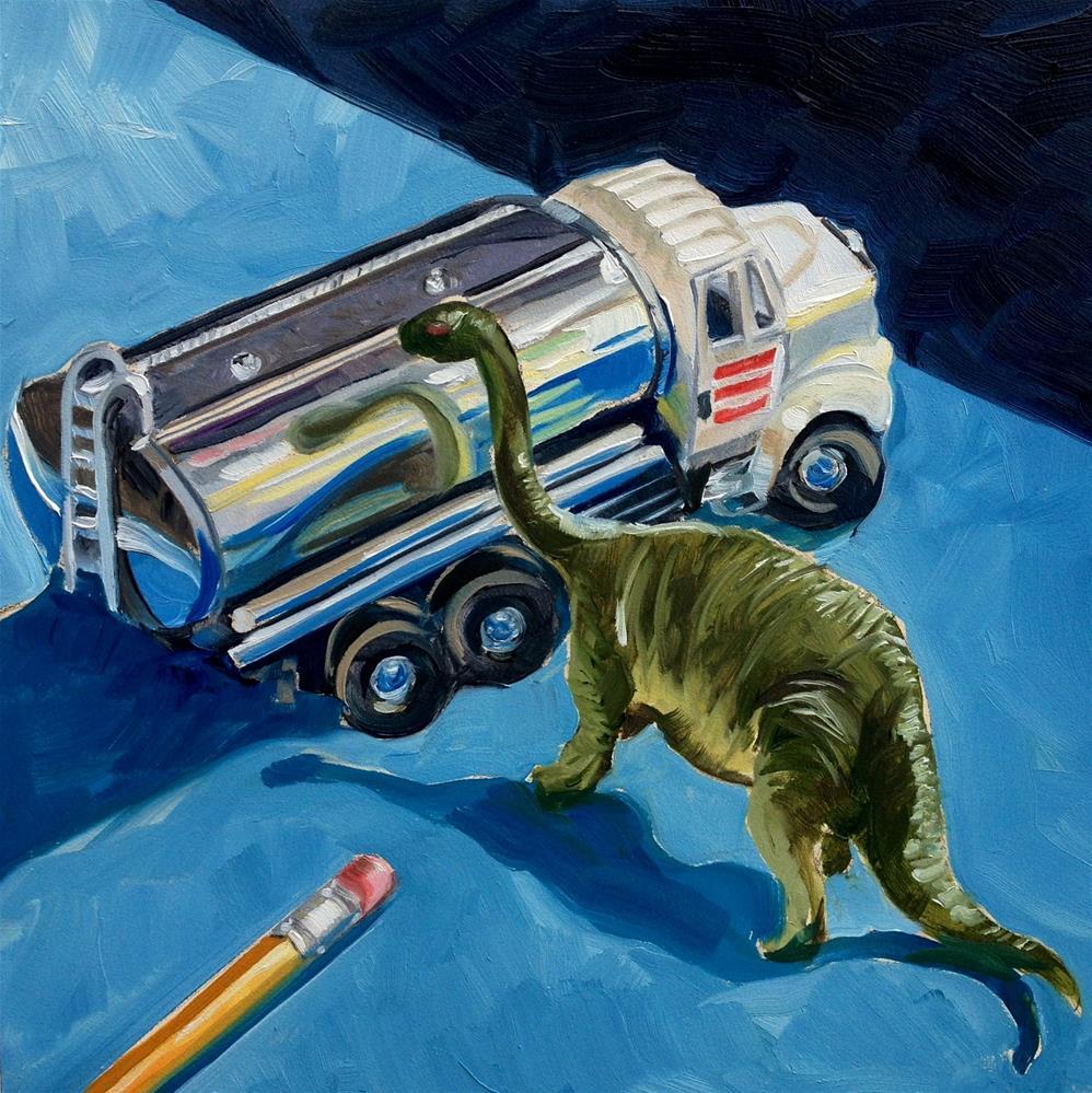 """""""Little Boy Still Life"""" original fine art by Lauren Kuhn"""