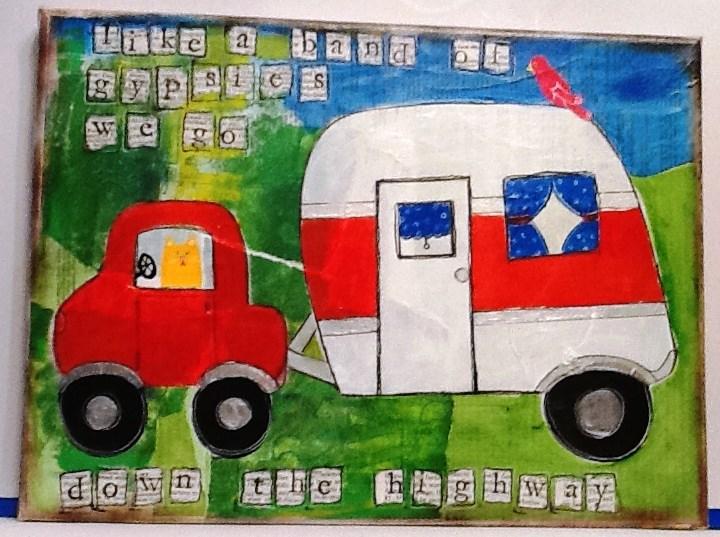 """ON THE ROAD AGAIN"" original fine art by Cindy Zoglmann"
