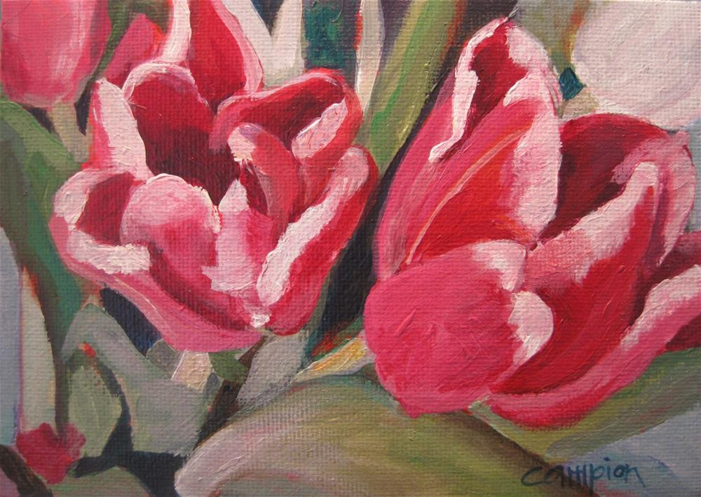 """291. Two Tulips"" original fine art by Diane Campion"