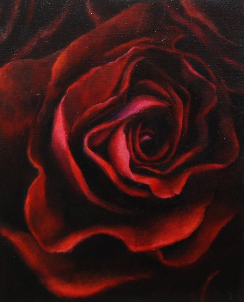 """Rose"" original fine art by Cheryl Meehan"