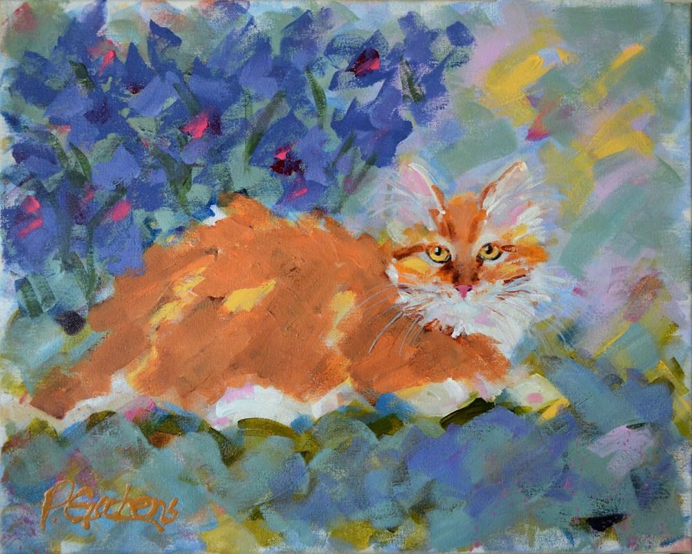 """""""Taffy's Garden"""" original fine art by Pamela Gatens"""