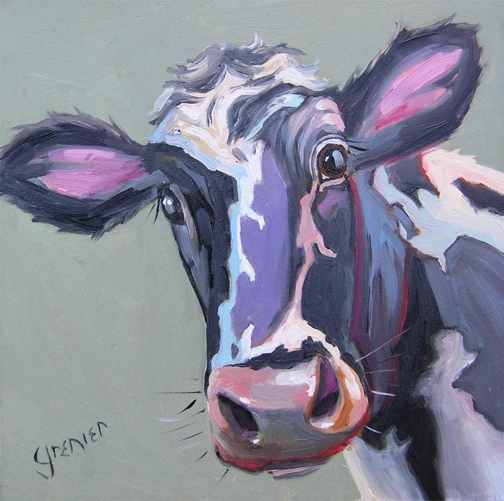 """Spotted Cow"" original fine art by jean grenier"