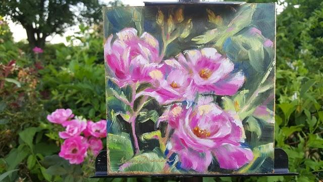 """Rose Dance"" original fine art by Tammie Dickerson"