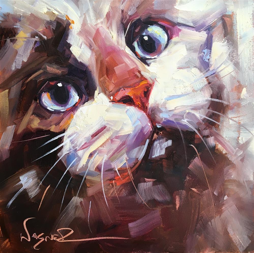 """""""Eyes Have It"""" original fine art by Olga Wagner"""