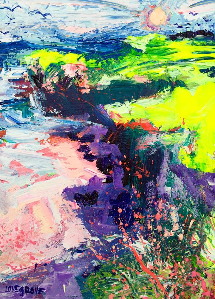 """Wish I could be California"" original fine art by Leoma Lovegrove"
