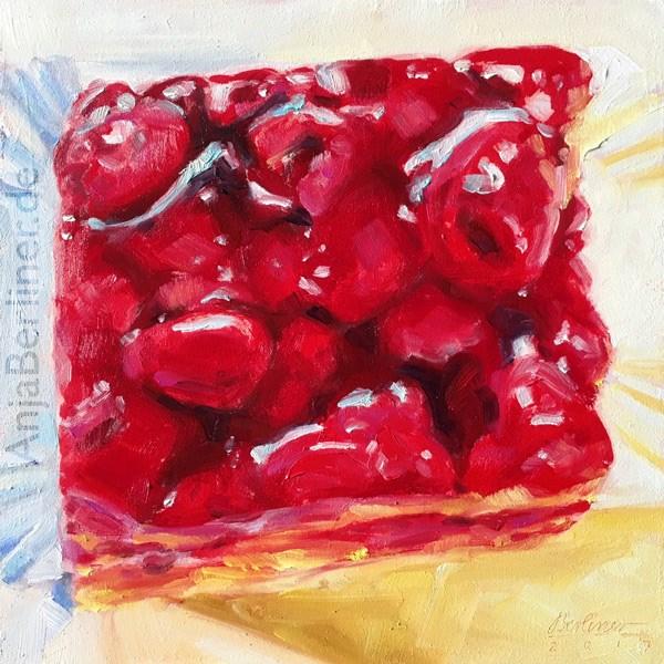"""""""335 Himbeerkuchen No.19"""" original fine art by Anja Berliner"""