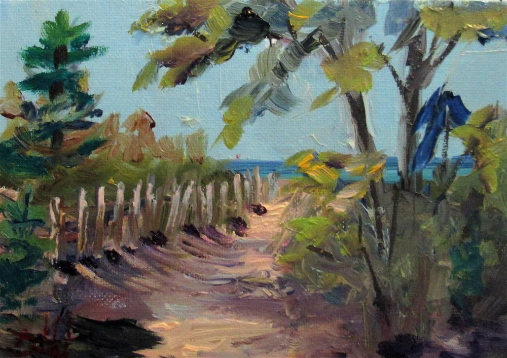 """Walk to the Lake Michigan"" original fine art by Delilah Smith"