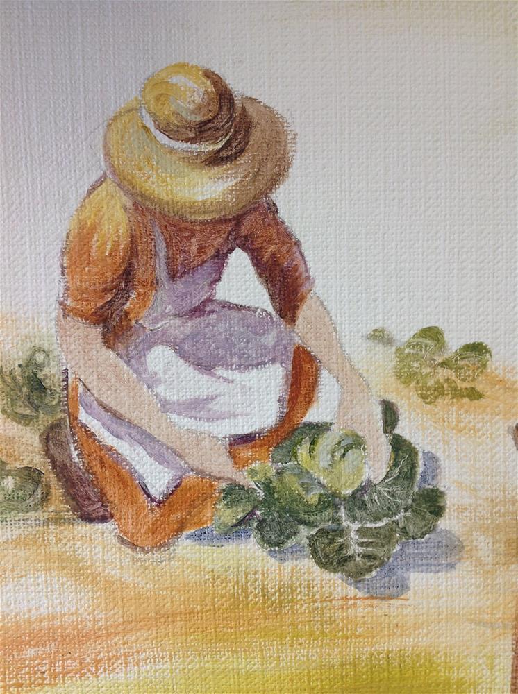 """Farm work"" original fine art by Christine Bayle"