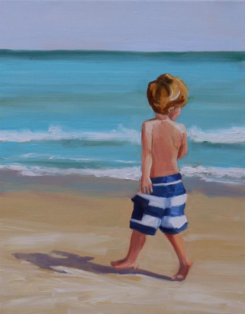 """spring in his step"" original fine art by Carol Carmichael"