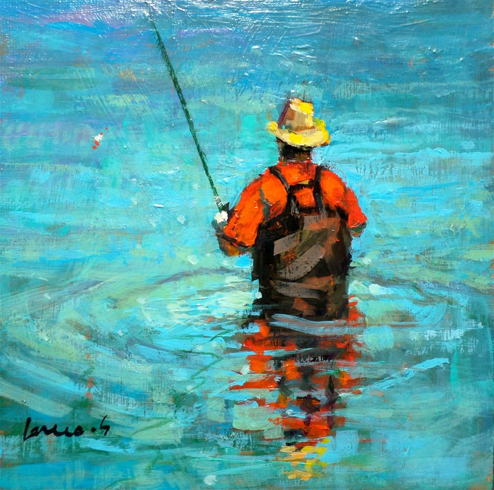 """FISHERMAN"" original fine art by salvatore greco"