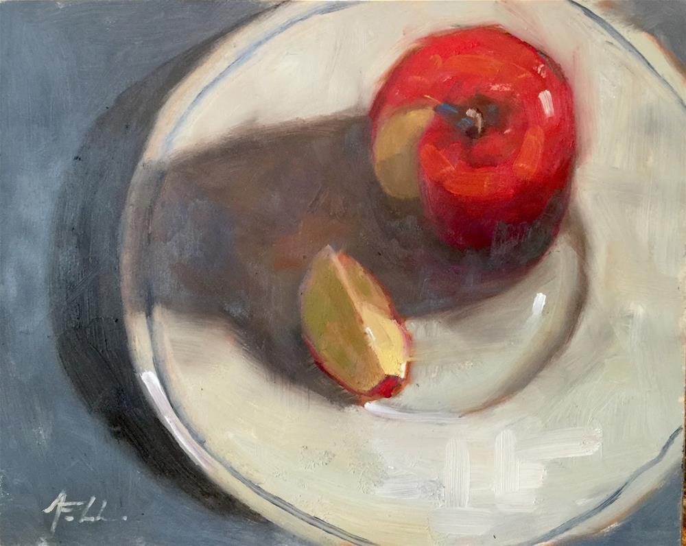 """A Slice of Life, 10 x 8, oil on gessoboard"" original fine art by Ann Feldman"