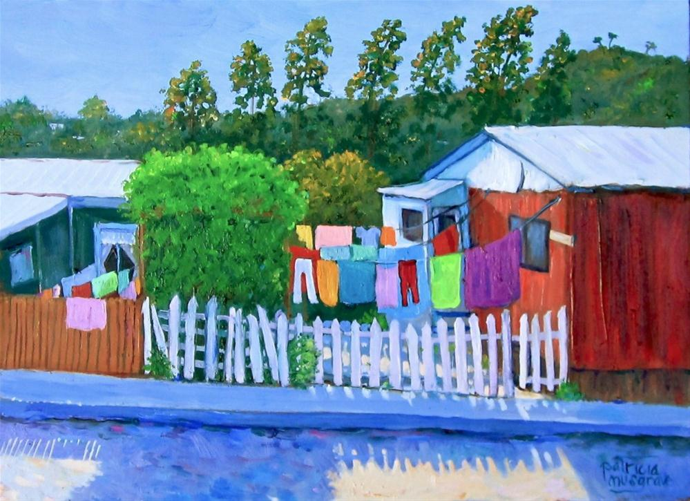 """Wash Day, Valparaiso, Chile"" original fine art by Patricia Musgrave"