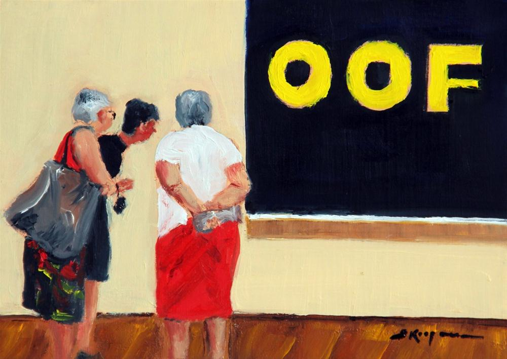 """OOF ... Say What?!"" original fine art by Shelley Koopmann"