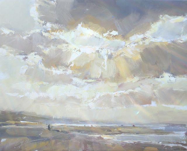 """Schuring Seascape autumn #19"" original fine art by Roos Schuring"