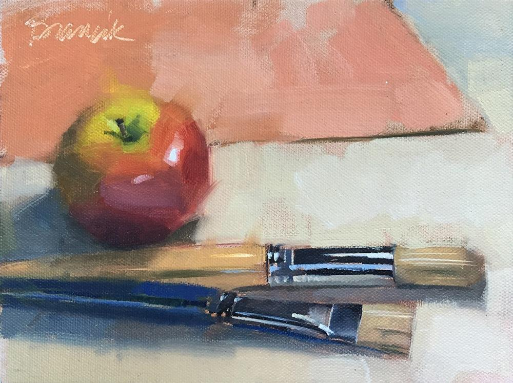 """Preparing to Paint"" original fine art by Candace Brancik"