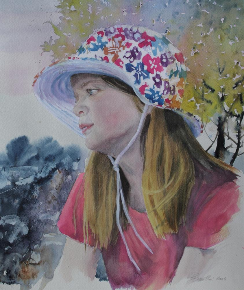 """Sun Hat"" original fine art by Emilia Leinonen"