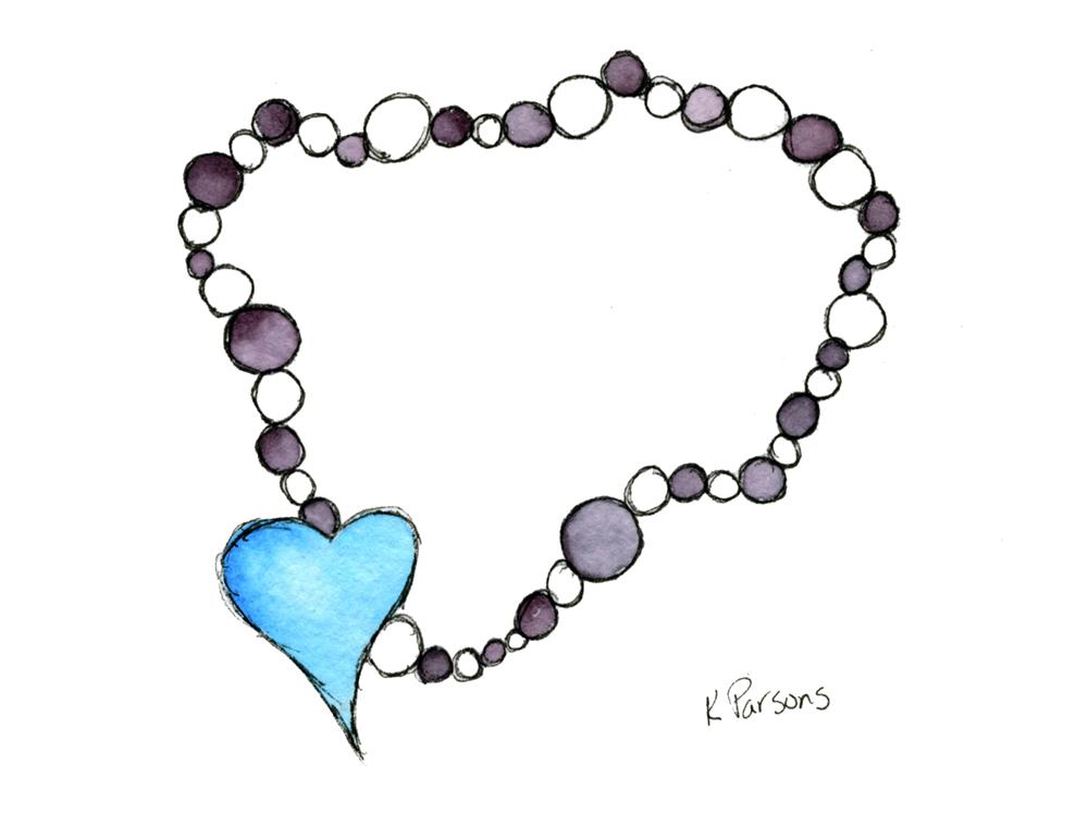"""Heart Necklace"" original fine art by Kali Parsons"