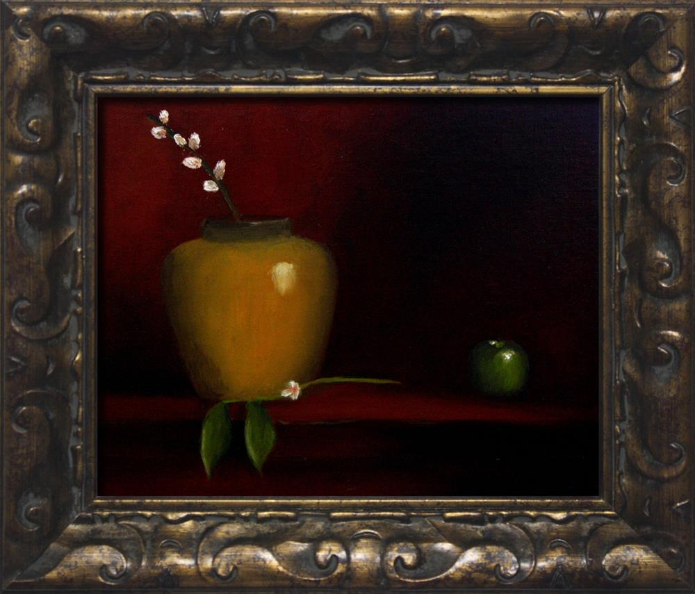 """""""Apple, Jug and Pussy Willow"""" original fine art by Dave Casey"""