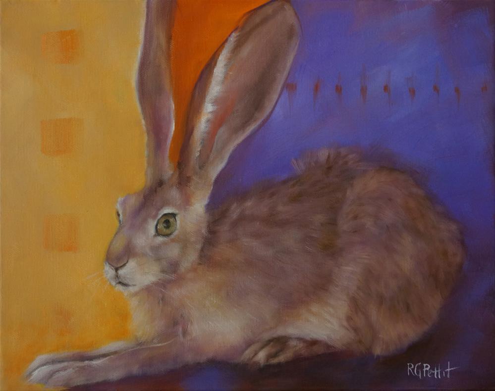 """Resting Hare"" original fine art by Rhea  Groepper Pettit"